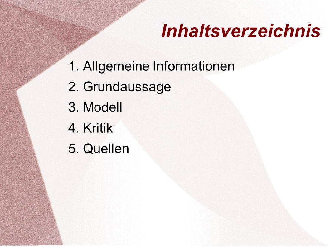 Inhaltsverzeichnis 1. Allgemeine Informationen 2. Grundaussage 3. Modell 4. Kritik 5. Quellen