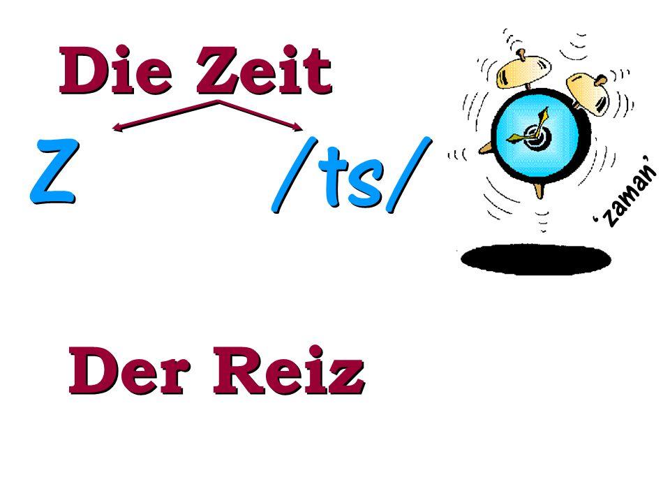 Die Zeit Z Z /ts/ zaman Der Reiz
