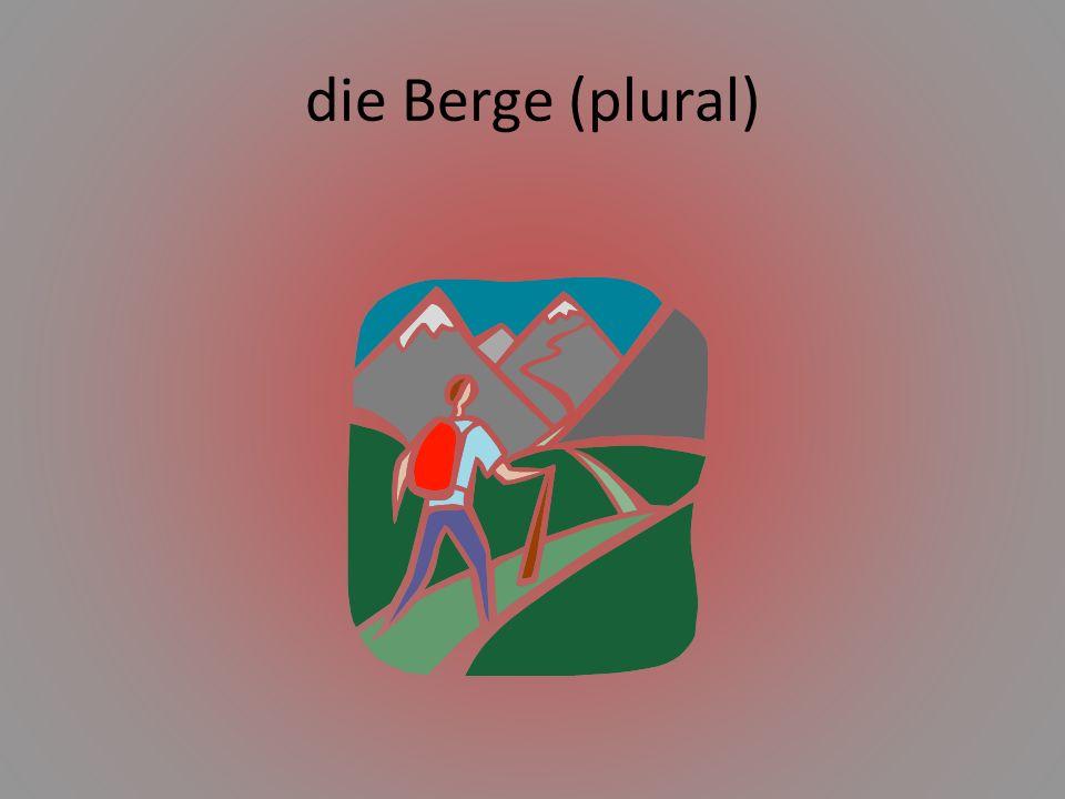 die Berge (plural)