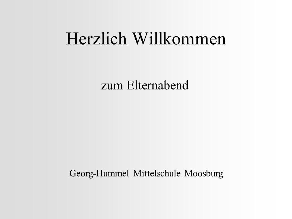 Herzlich Willkommen zum Elternabend Georg-Hummel Mittelschule Moosburg