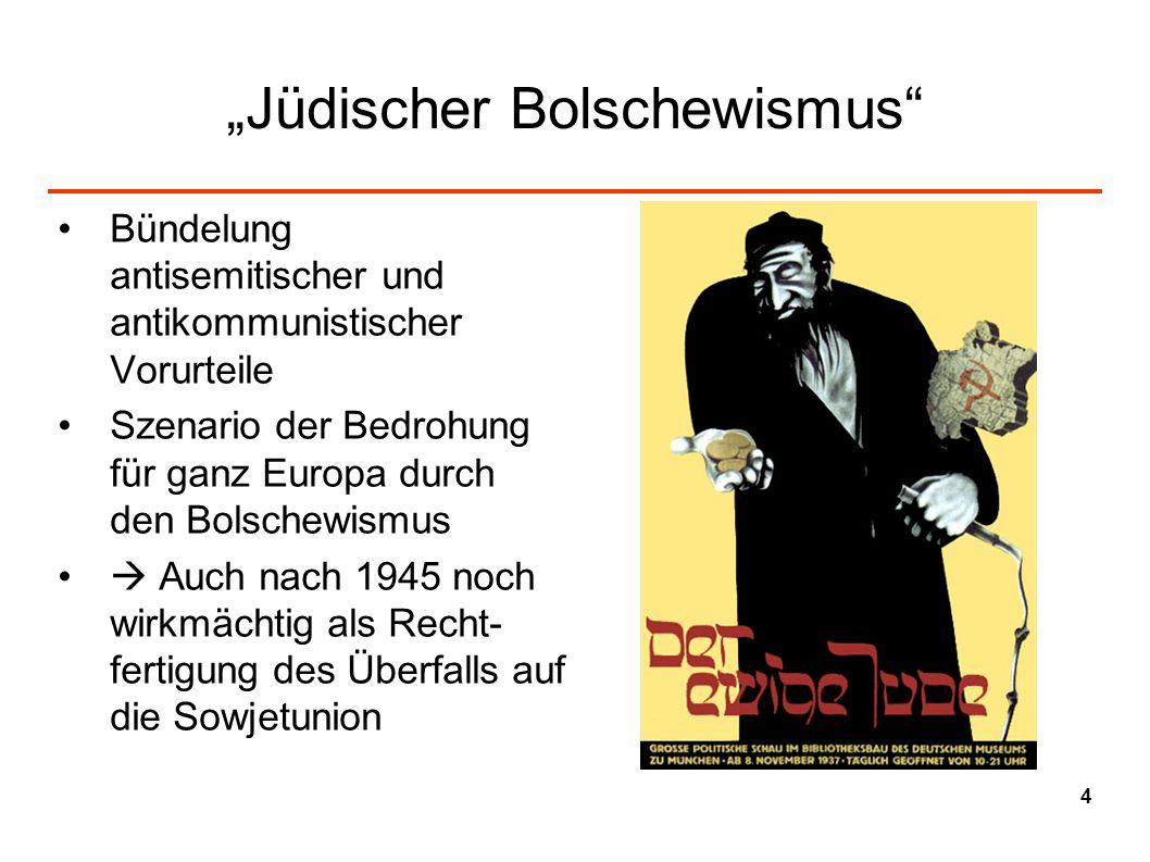 Jüdischer Bolschewismus Bündelung antisemitischer und antikommunistischer Vorurteile Szenario der Bedrohung für ganz Europa durch den Bolschewismus Au