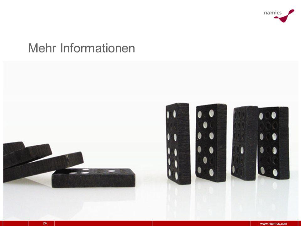 24 www.namics.com Mehr Informationen