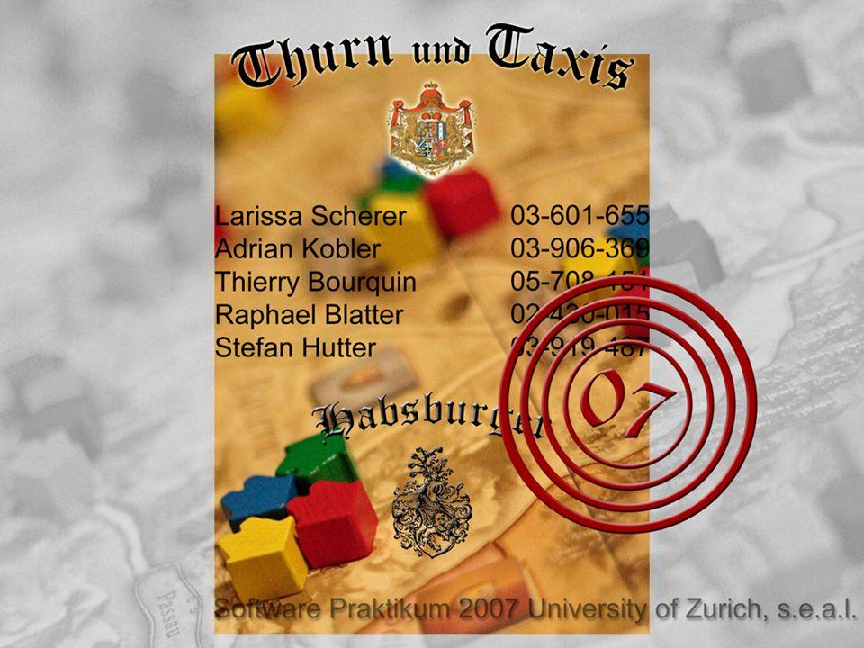 Software Praktikum 2007 Habsburger22 Domänenmodell (6) TnTClientNWInterface GUI Spiel gestartet Board...