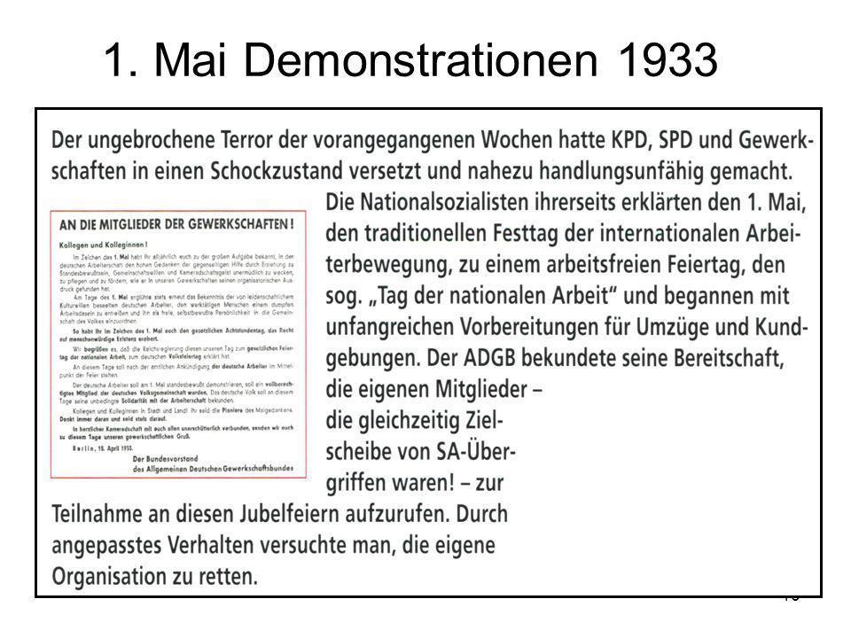 16 1. Mai Demonstrationen 1933