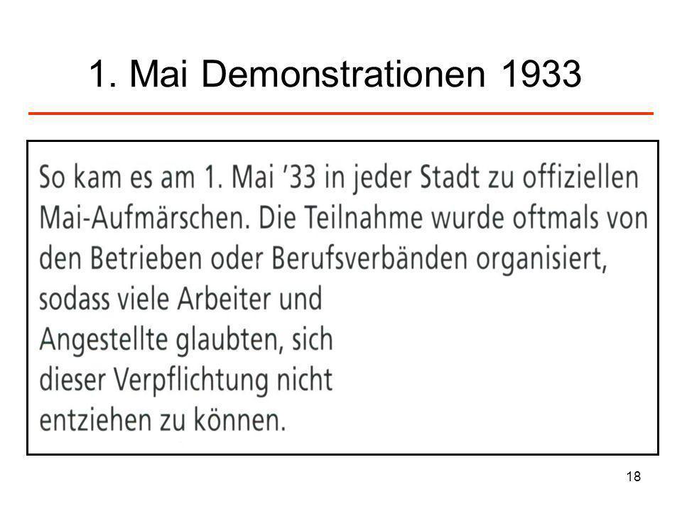 18 1. Mai Demonstrationen 1933