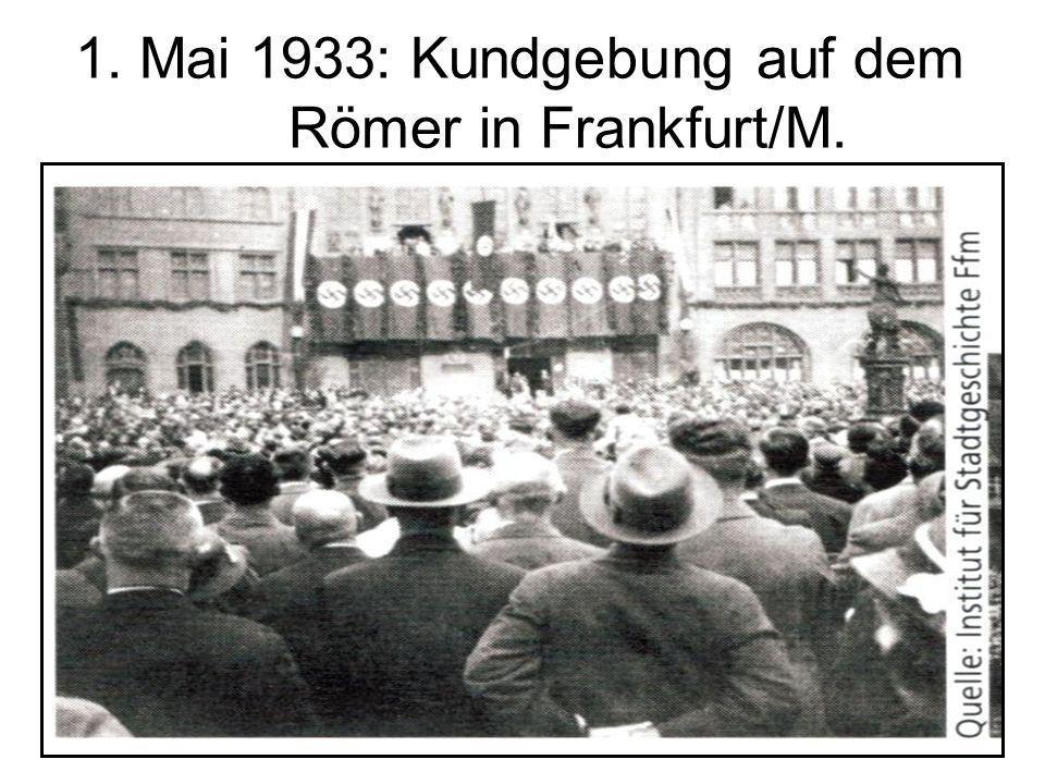 19 1. Mai 1933: Kundgebung auf dem Römer in Frankfurt/M.