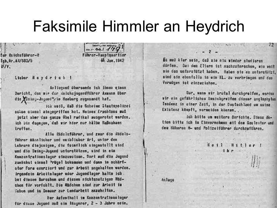 64 Faksimile Himmler an Heydrich