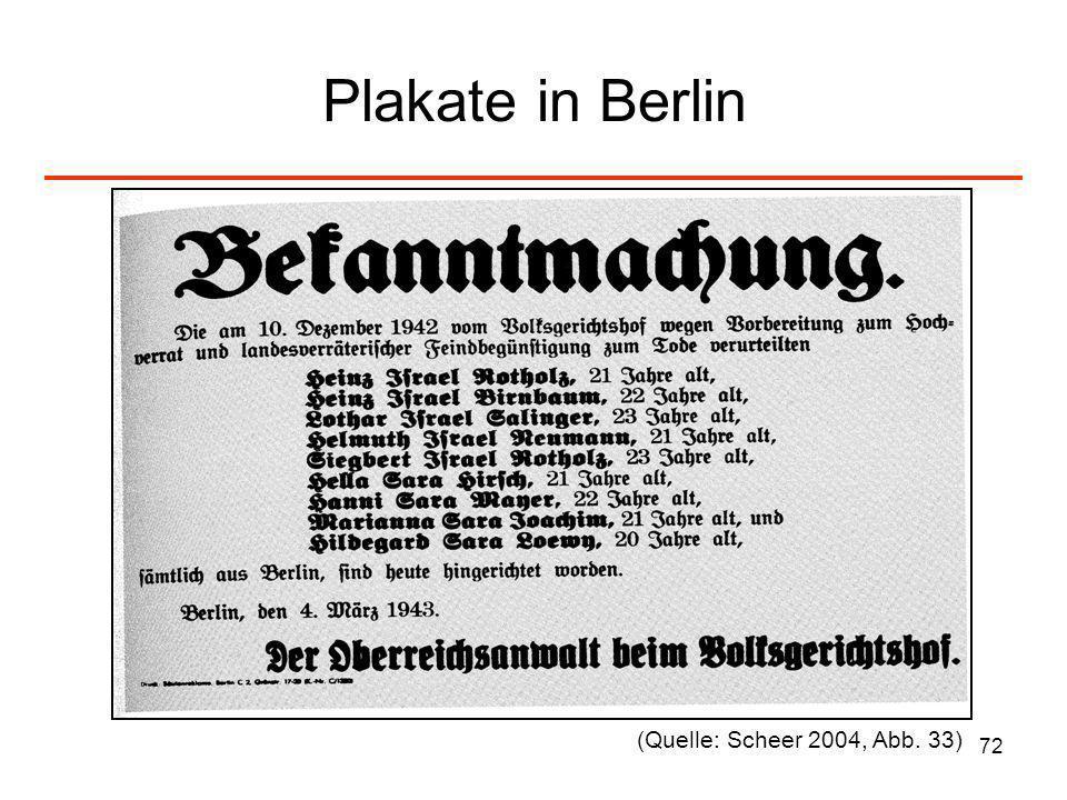 72 Plakate in Berlin (Quelle: Scheer 2004, Abb. 33)