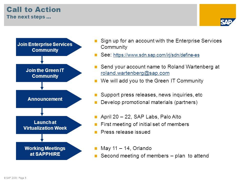 © SAP 2009 / Page 6 Thank you!