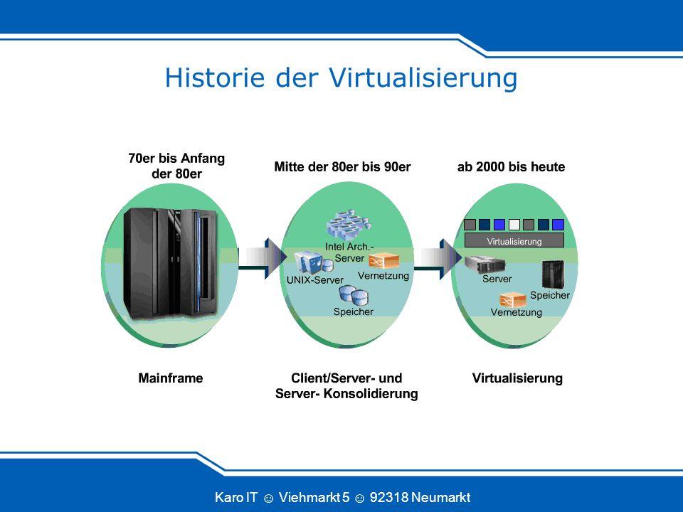 Karo IT Viehmarkt 5 92318 Neumarkt Historie der Virtualisierung