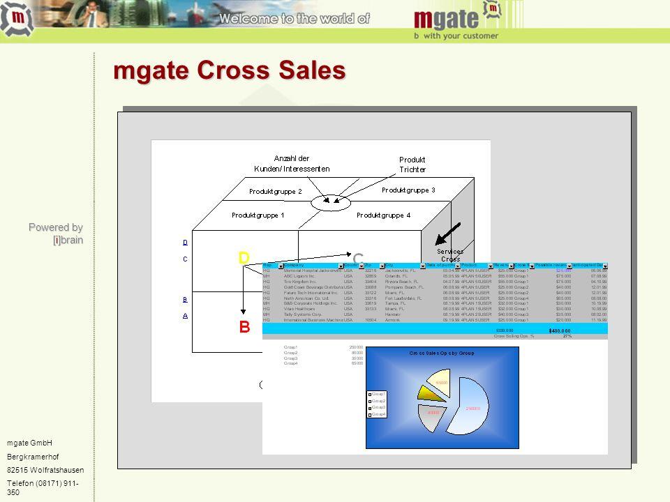 mgate GmbH Bergkramerhof 82515 Wolfratshausen Telefon (08171) 911- 350 mgate Cross Sales Powered by [i]brain