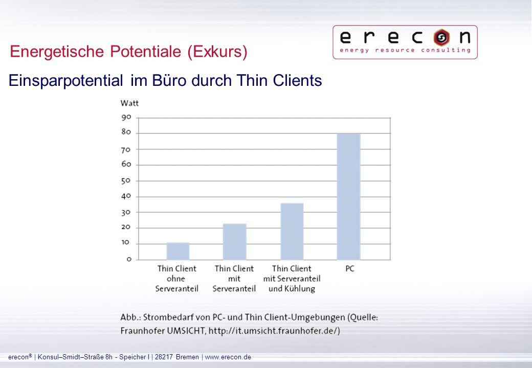 erecon ® | Konsul–Smidt–Straße 8h - Speicher I | 28217 Bremen | www.erecon.de Energetische Potentiale