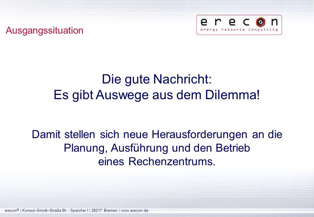 erecon ® | Konsul–Smidt–Straße 8h - Speicher I | 28217 Bremen | www.erecon.de Ein häufig beobachteter Fehler: Der (alleinige) Fokus auf die Klimatisierung Energetische Potentiale (Exkurs)