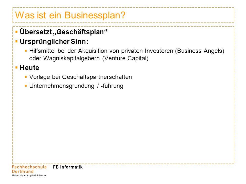 Was ist ein Businessplan.