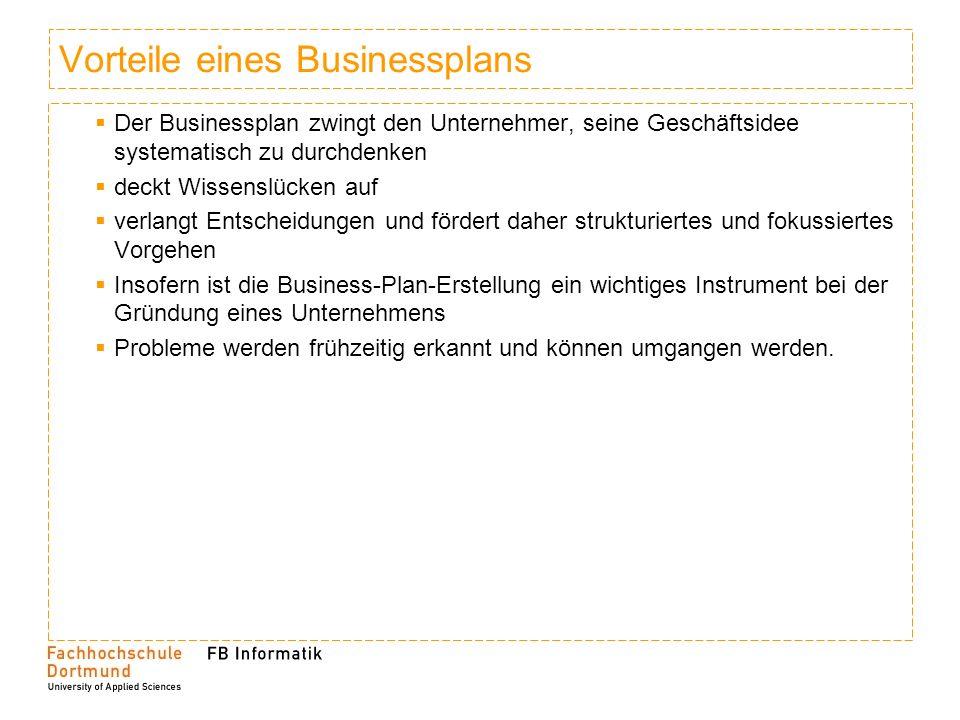 Was kennzeichnet einen Businessplan.Ein Businessplan...