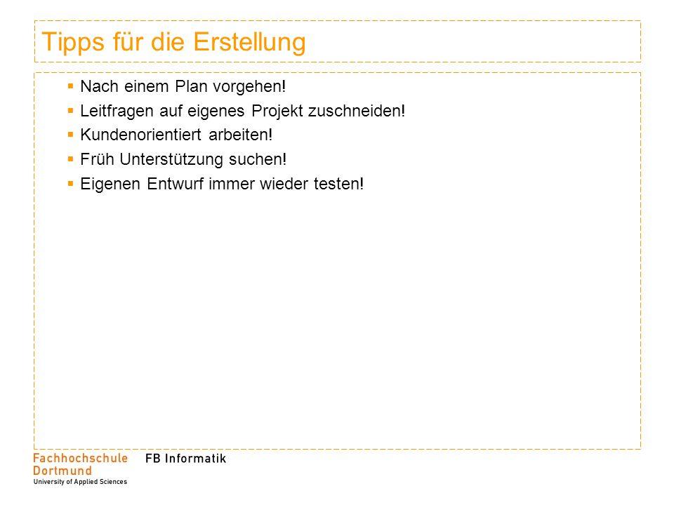 10 Hauptelemente eines BPs 1.Executive Summary 2.Unternehmensziele und –profil 3.Produkt oder Dienstleistung 4.Branche und Markt 5.Marketing (Absatz und Vertrieb) 6.Management und Schlüsselpositionen 7.Realisierungsplanung 8.Chancen und Risiken 9.Fünf-Jahres-Planung 10.Finanzbedarf