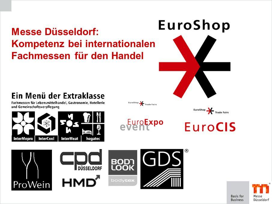The Global Retail Trade Fair Internet Services der EuroShop Stets aktuelle Informationen rund um die EuroShop im Internetportal Alle Daten und Fakten Ausstellerdatenbank mit umfassenden Zusatzinformationen Sonderschauen, Partner etc.