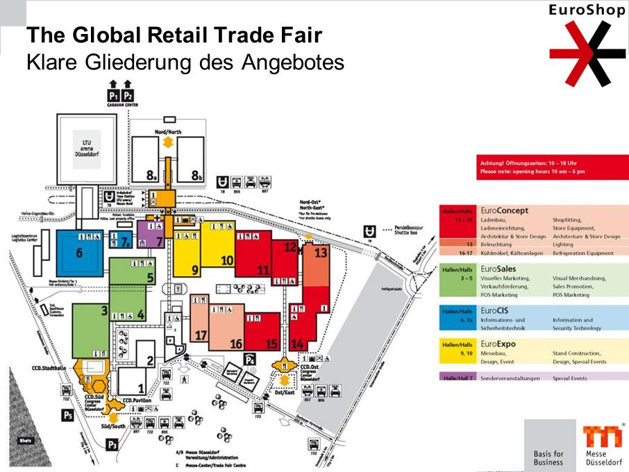 The Global Retail Trade Fair Klare Gliederung des Angebotes