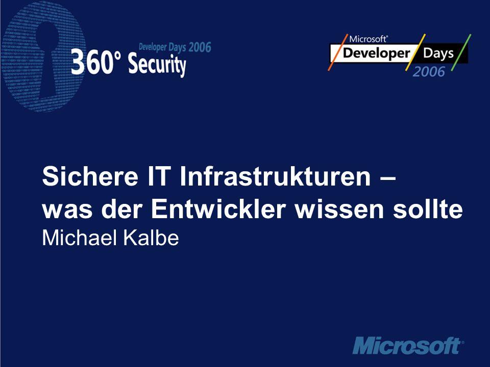 Sichere IT Infrastrukturen – was der Entwickler wissen sollte Michael Kalbe