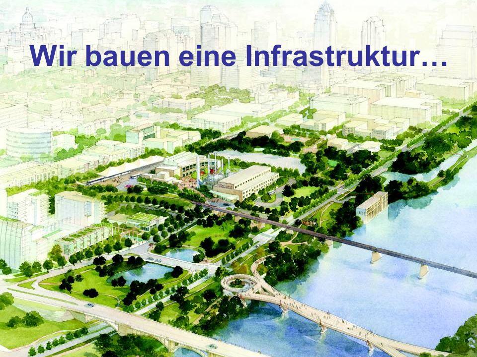 Wir bauen eine Infrastruktur…