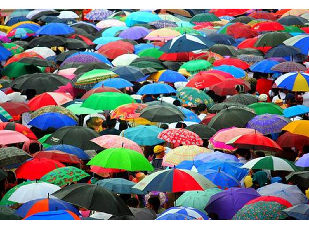sind unter einem Schirm manchmal Zwei.