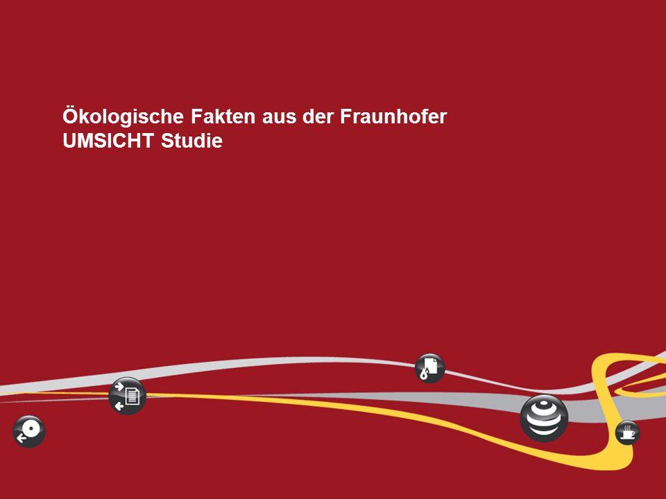 IGEL Technology ® Dr. Frank Lampe 11 Ökologische Fakten aus der Fraunhofer UMSICHT Studie