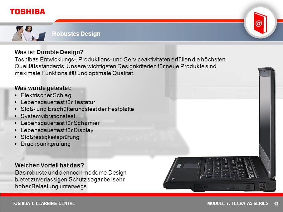 11 TOSHIBA E-LEARNING CENTREMODULE 7: TECRA A5 SERIES Execute Disable Bit (XD-Bit) Was ist XD-Bit? Wenn Execute Disable Bit vorhanden und aktiviert is