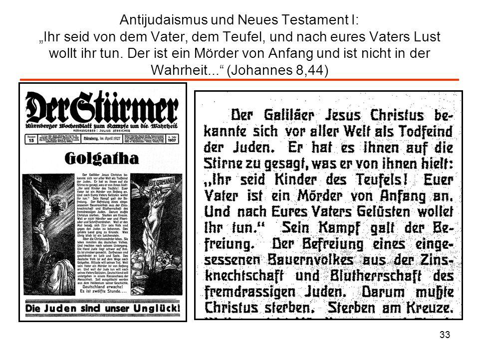 34 Antijudaismus und Neues Testament II: (Der Stürmer, April 1927)