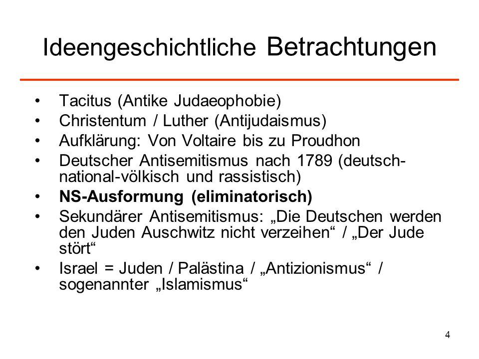5 Judenfeindschaft in der Antike?