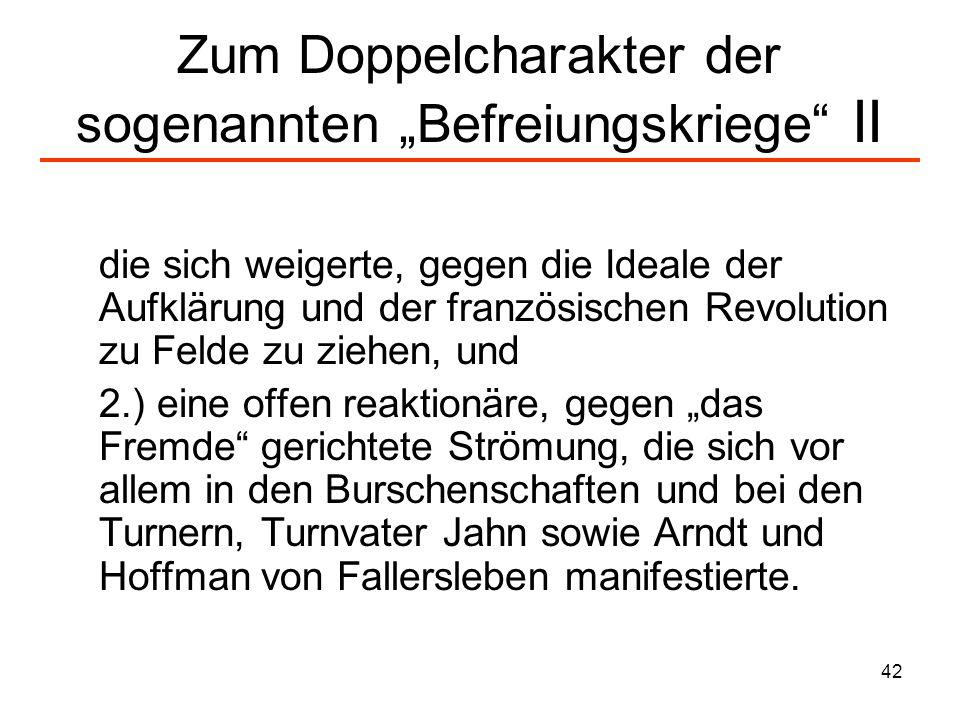 43 Bücherverbrennung auf der Wartburg 1813 (I) Franz Mehring beschreibt die damalige Lage so: Der von Heine später so unermüdlich verspottete Maßmann (...) machte den Vorschlag, einige Schriften zu verbrennen, die der patriotischen Jugend widerwärtig waren, wie einst Luther die Bannbulle des Papstes verbrannt hatte.