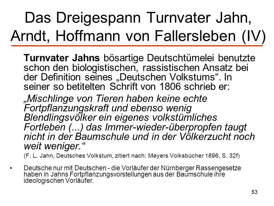 54 Hoffmann von Fallerslebens Antisemitismus In seinem Gedicht Emancipation vom 27.