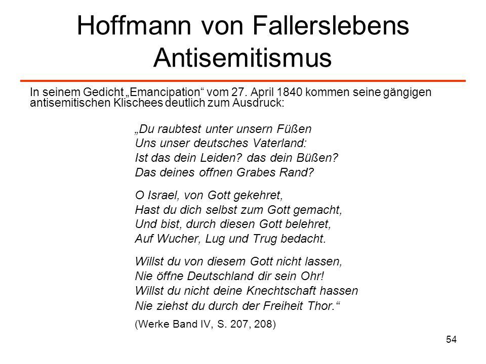 55 Das Dreigespann Turnvater Jahn, Arndt, Hoffmann von Fallersleben (V) Am 1.
