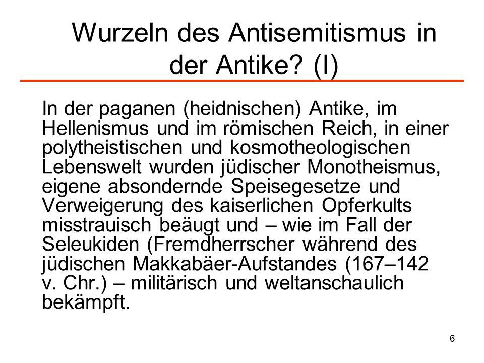 7 Wurzeln des Antisemitismus in der Antike.