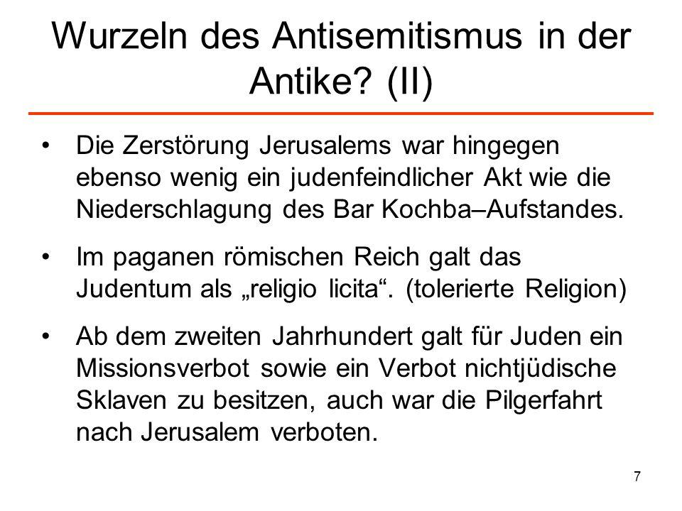 8 Wurzeln des Antisemitismus in der Antike.(III) – Tacitus I...