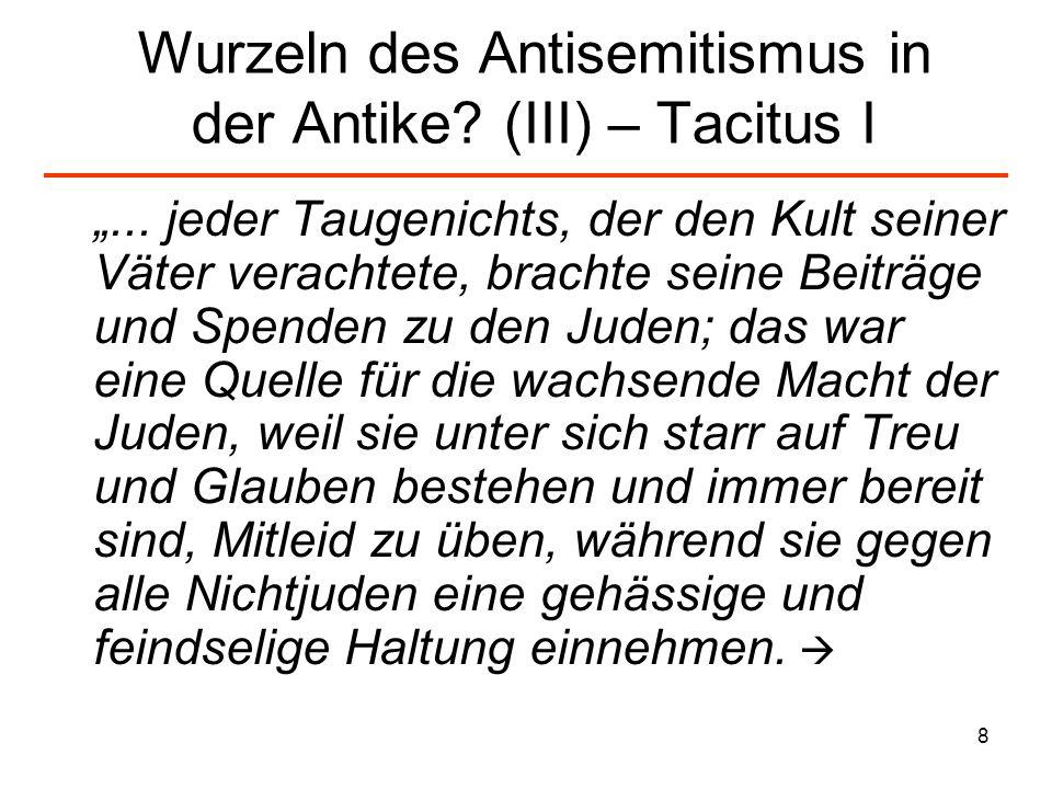 9 Wurzeln des Antisemitismus in der Antike.