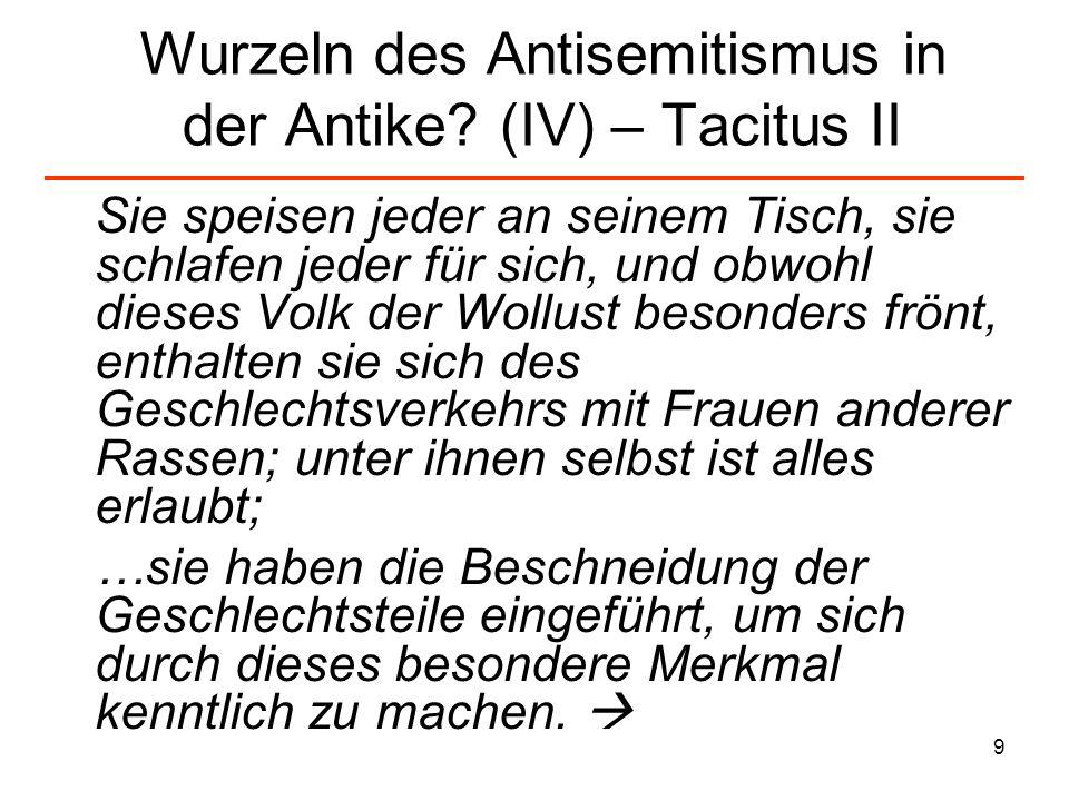 10 Wurzeln des Antisemitismus in der Antike.