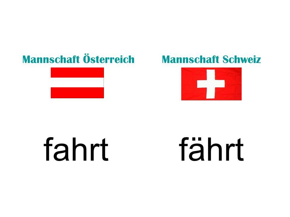 Mannschaft ÖsterreichMannschaft Schweiz fahrtfährt