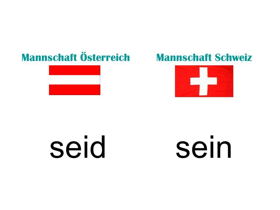 Mannschaft ÖsterreichMannschaft Schweiz seinseid