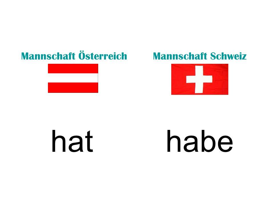Mannschaft ÖsterreichMannschaft Schweiz hathabe