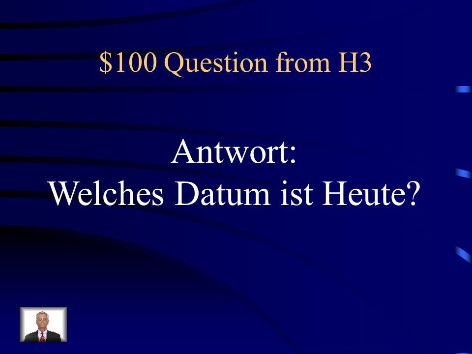 $500 Answer from H2 Der Mann, den ich sehe, hat einen blauen Hund!