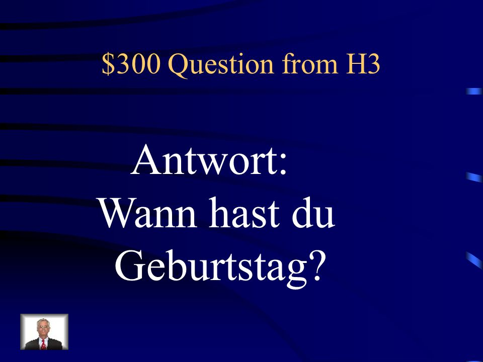 $200 Answer from H3 Was ist Ich bin in der neuten Klasse?