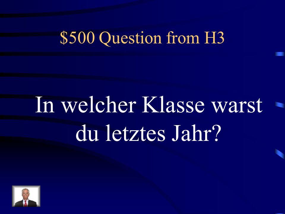 $400 Answer from H3 Was ist Wir feiern Weihnachten Am funfundzwangisten Dez.