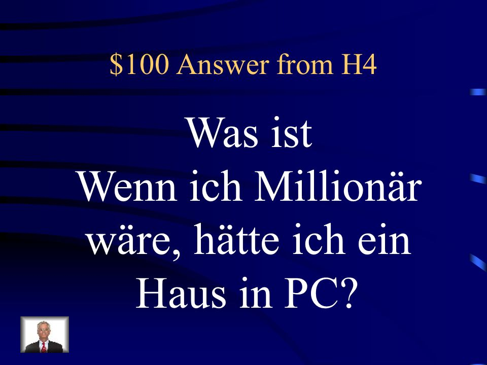 $100 Question from H4 If I were a millionaire, I would have a house in Park City!