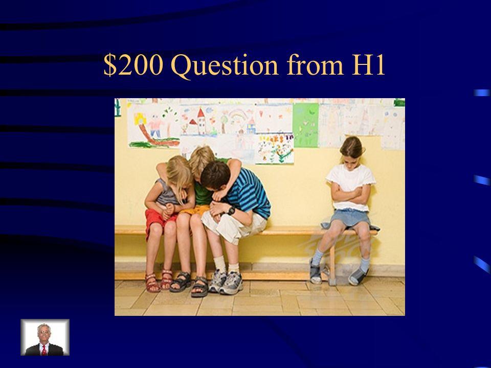 $100 Answer from H1 Was ist aufsässig ?
