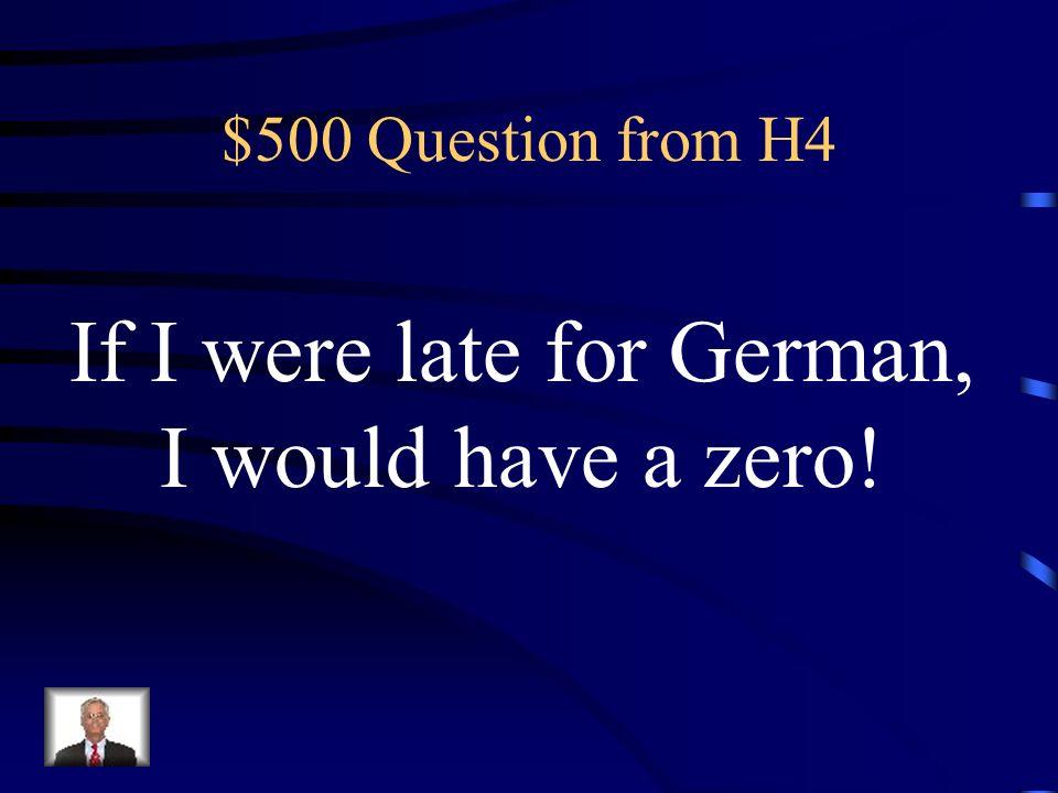 $400 Answer from H4 Was ist Wenn ich ein Million dollars hätte, würde ich der Frau Lindsay einen neuen Computer kaufen!