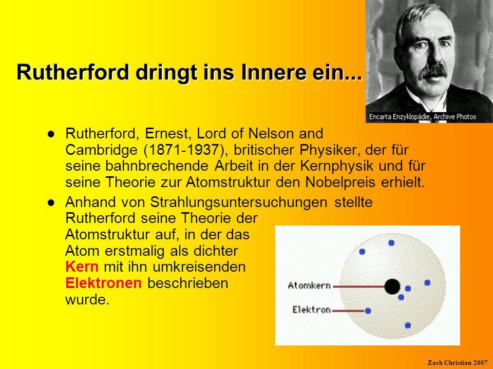 Zach Christian 2007 Rutherfords Versuch Radioaktives Präparat Leuchtschirm Goldfolie Radioaktive Strahlen