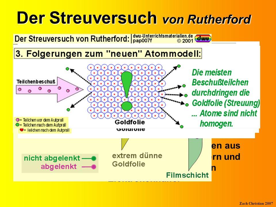 Zach Christian 2007 Die Bedeutung von Kernteilchen Elemente unterscheiden sich durch die Zahl ihrer Protonen.