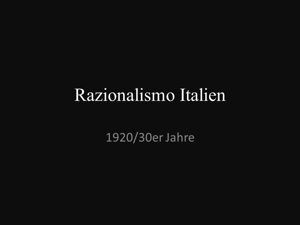 Inhaltsverzeichnis Rationalismus Gruppo Sette Giuseppe Terragni verschiedene Gebäude Casa del Fascio