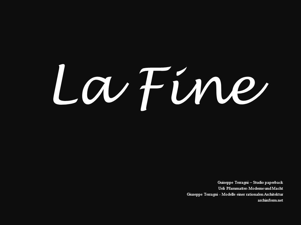 La Fine Guiseppe Terragni – Studio paperback Ueli Pfammatter- Moderne und Macht Giuseppe Terragni - Modelle einer rationalen Architektur archinform.ne