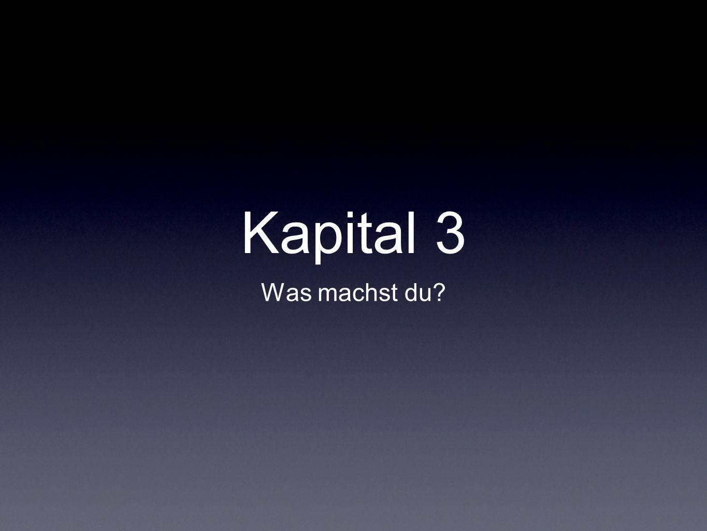 Kapital 3 Was machst du?